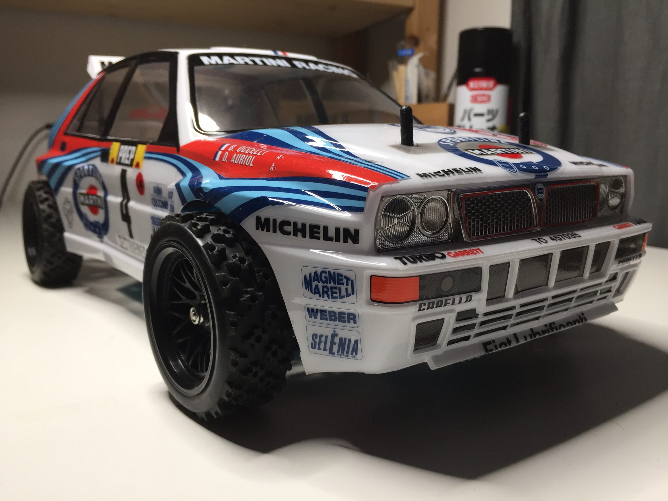 How to paint Lancia Delta Integrale shell